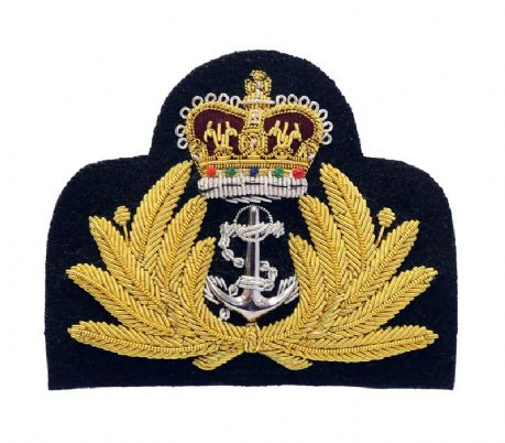 Royal Navy | Wire embroidered blazer badge.